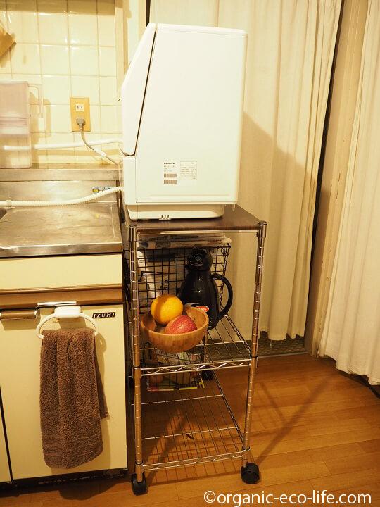 ニトリのワゴンと食洗機