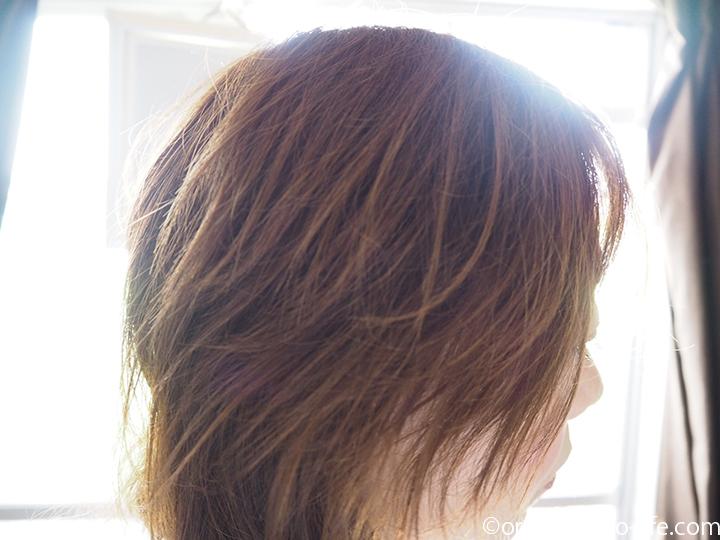 オーガニックカラーをした髪
