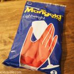 マリーゴールドの天然ゴム手袋