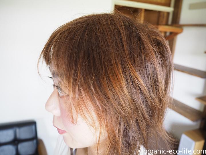 オーガニックカラーをした髪の毛