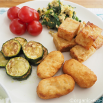 「豆腐のからあげ」がメインのヘルシーなお昼ごはん