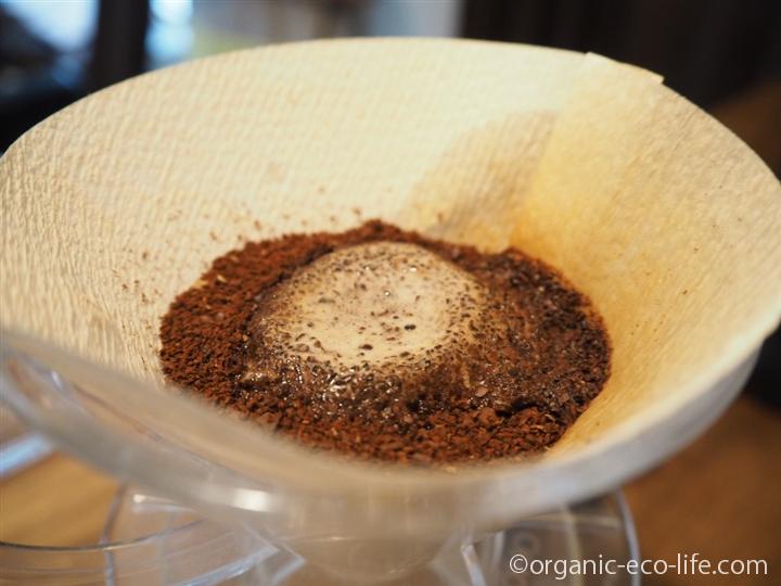 膨らむコーヒー豆