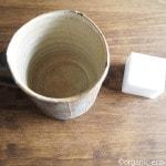 メラミンスポンジでカップの茶渋落とし