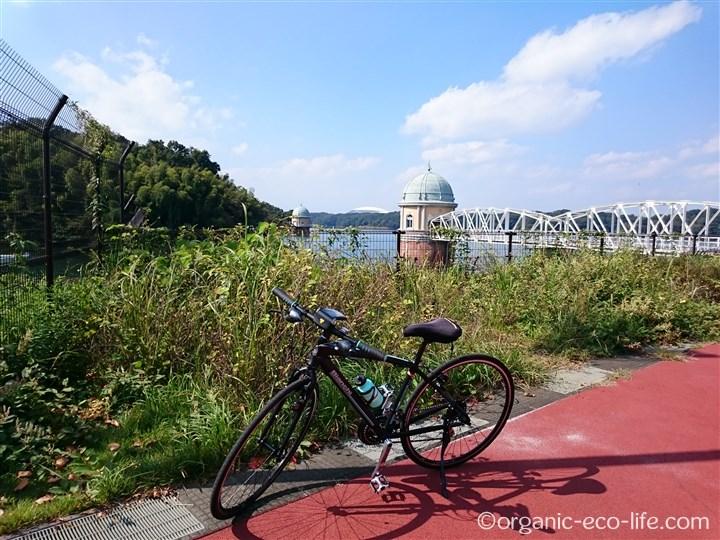 自転車と多摩湖