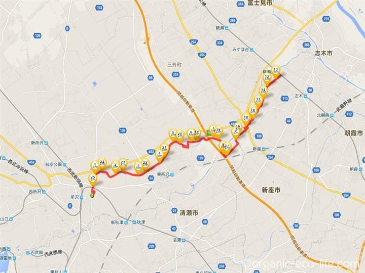 サイクリング/柳瀬川