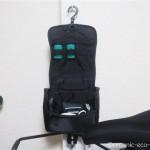 無印良品の「パラグライダークロス吊して使える洗面用具ケース」に自転車グッズを収納
