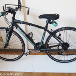 自転車の一時置きに「プラスチックダンボール」が便利
