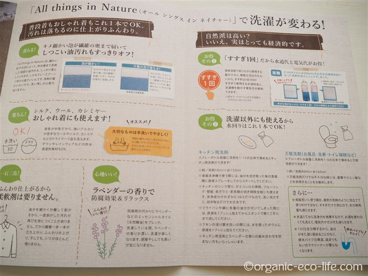 All things in Natureチラシ