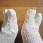 さらに破れた冷えとり靴下を繕いました【冷えとり健康法】