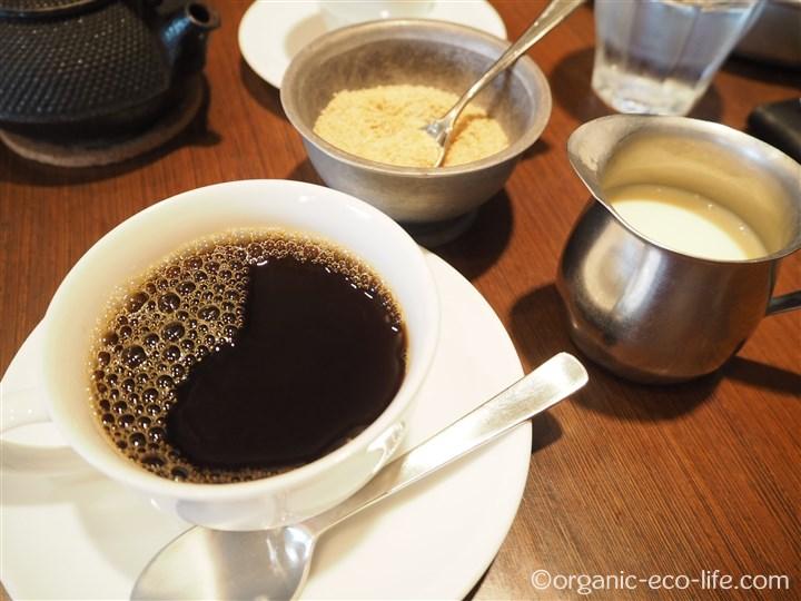 有機コーヒーてんさい糖と豆乳