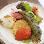 西日暮里の「フロマエカフェ」でオーガニック野菜たっぷりのランチプレートを食べました