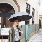 フェリシモ猫部の「ブラックニャンブレラ〈晴雨兼用傘〉」でUVカットしています