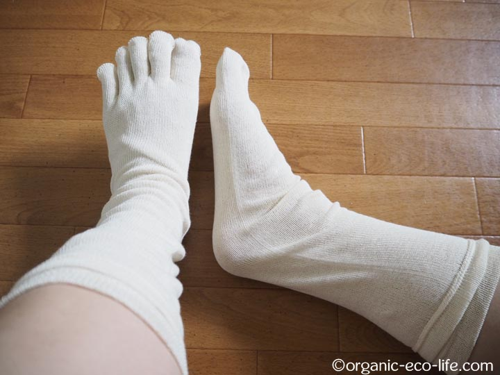 オーガニックコットン100%5本指靴下 ストレスフリー