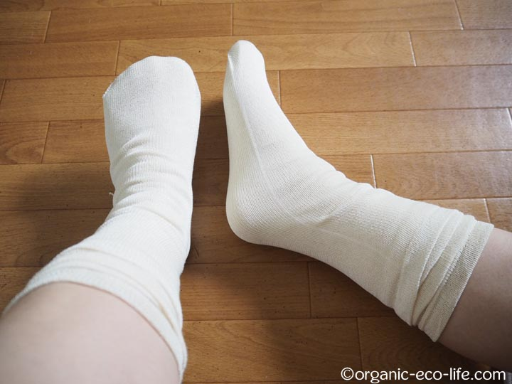 絹冷えとり靴下ストレスフリー