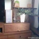 テレビ横の台にBRIWAXで塗装した扉を付けました【DIY】