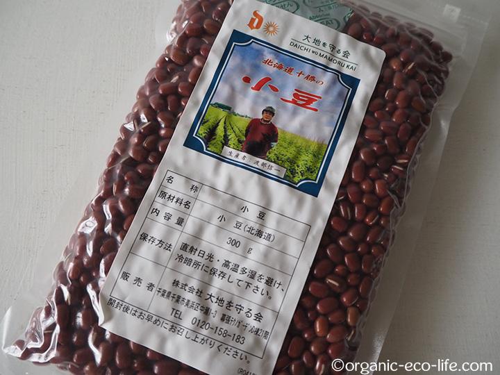 大地宅配の小豆