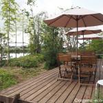 【加須市】水辺のステキな「食堂カフェLaugh(ラフ)」で有機野菜を使ったおいしいランチを食べました