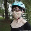 冷えとり靴下の841の「シルクのUVカットマスク」を付けてサイクリングしました【レビュー】