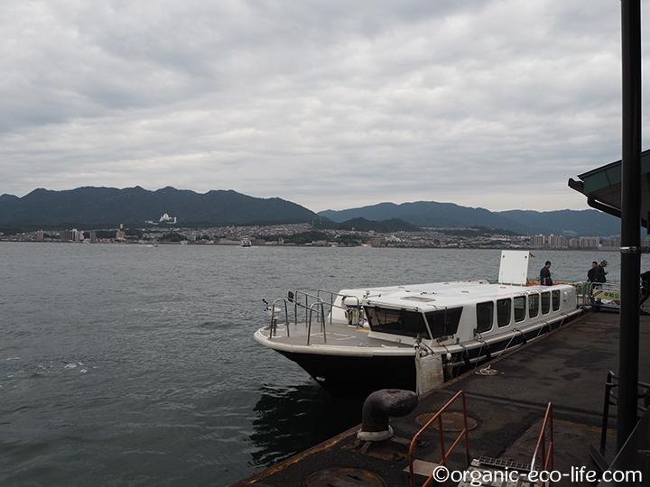 船で宮島入り