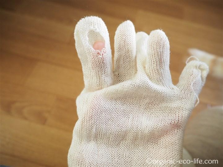 5本指靴下の親指の穴