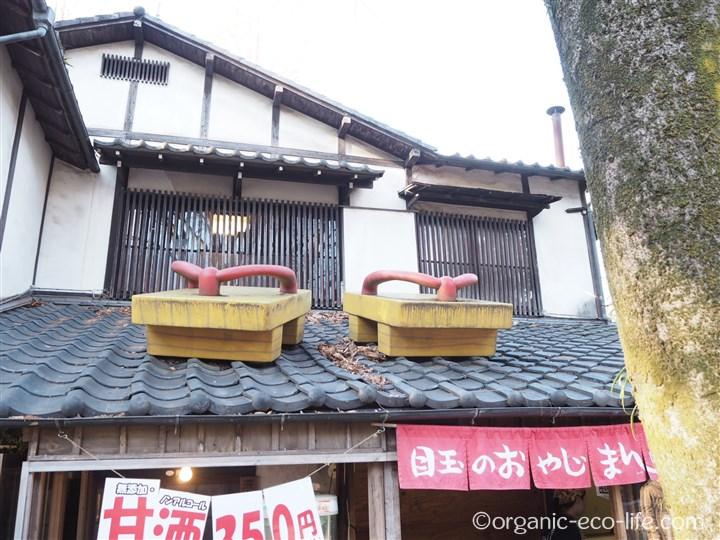 鬼太郎茶屋の屋根