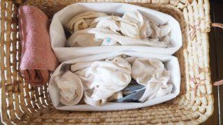 無印良品の「不織布仕切ケース」で靴下を取り出しやすくしました