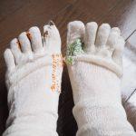 ダーニング熱が高まり、毎日冷えとり靴下を繕っています