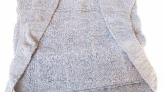 ウール100%の防寒着「幸せのインナーねこ(ロング)」で背中とお尻を温めます♪